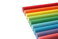 Rainbow of chalks Stock Images