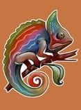 Rainbow chameleon Royalty Free Stock Image