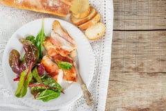 Rainbow chard salad in bowl Royalty Free Stock Image