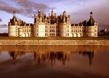 Rainbow chateau. Chateau chambord in the loire valley france europe stock image