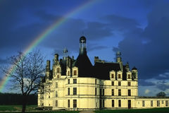 Rainbow chateau Royalty Free Stock Image