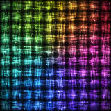 Rainbow Checkered Pattern with Light Effect. royalty free illustration