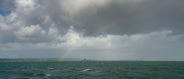 Rainbow, Cherbourg Peninsular, France. Royalty Free Stock Photography