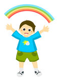 Rainbow child Stock Image