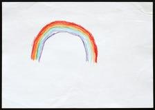 Rainbow Child& x27; disegno di s Immagine Stock Libera da Diritti