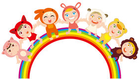 Rainbow children. Vector illustration of  Rainbow children Royalty Free Stock Images