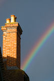 Rainbow  and Chimney Royalty Free Stock Image