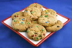 rainbow chip cookies Royalty Free Stock Images