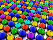 Rainbow chrismas balls Royalty Free Stock Images