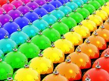 Rainbow christmas. New rainbow christmas balls background Stock Image
