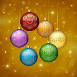 Rainbow Christmas Ornaments Stock Images