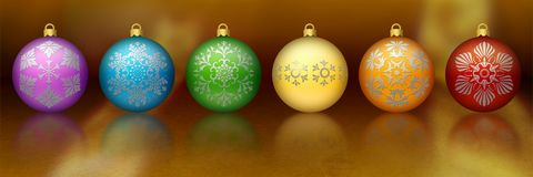 Rainbow Christmas Ornaments Stock Photo
