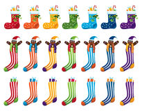 Rainbow Christmas socks Royalty Free Stock Images