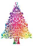 Rainbow christmas tree. Rainbow colored christmas tree, eps10  illustration Royalty Free Stock Photo