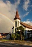 Rainbow Church Stock Image