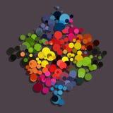 Rainbow circle background diamond shape Royalty Free Stock Images