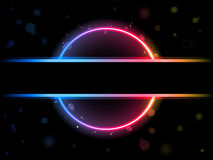Rainbow Circle Border Stock Photo