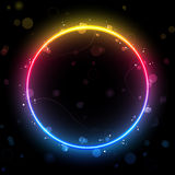 Rainbow Circle Border Background Royalty Free Stock Image