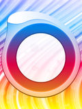 Rainbow Circle Border Background Royalty Free Stock Photo
