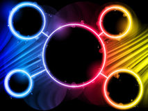 Rainbow Circle Border Background Royalty Free Stock Photos