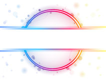 Rainbow Circle Border with Sparkles Royalty Free Stock Photos