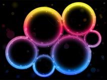 Rainbow Circle Border with Sparkles Stock Photos