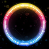 Rainbow Circle Border with Sparkles Stock Photography