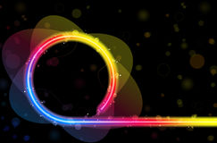 Rainbow Circle Border with Sparkles Royalty Free Stock Images