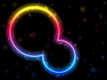 Rainbow Circle Border with Sparkles Stock Image