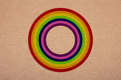 Rainbow circle on canvas, high resolution, detailed Stock Photography