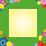 Rainbow and circle frame Royalty Free Stock Images