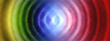 Rainbow circle mosaic Royalty Free Stock Images