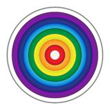 Rainbow Circle Paper on white background stock photography