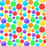 Rainbow circle seamless background. Artistic watercolor texture. Hand drawn multicolor pattern for your design royalty free illustration