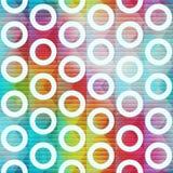 Rainbow circle seamless pattern Stock Images
