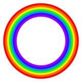 Rainbow circle spectrum colored Stock Photography