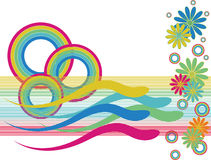 Rainbow Circle Swimmers Royalty Free Stock Photos