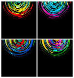 Rainbow circle technology backgrounds. For creative design tasks Royalty Free Stock Image