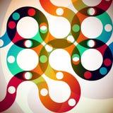 Rainbow circles Stock Image
