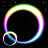 Rainbow Circles Background Shows Colorful Bands In Space Stock Photography