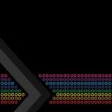 Rainbow Circles Layout Stock Photos