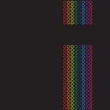 Rainbow Circles Layout Royalty Free Stock Photography