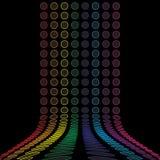 Rainbow Circles Layout Stock Photography