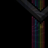 Rainbow Circles Layout Royalty Free Stock Image