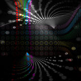 Rainbow Circles Layout Stock Image
