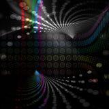 Rainbow Circles Layout Stock Image