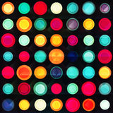 Rainbow circles seamless pattern with grunge effect Stock Images