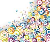 Rainbow circles stream Stock Photography