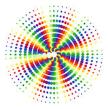 Rainbow circles on white Stock Photos