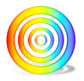 Rainbow cirlce Stock Images